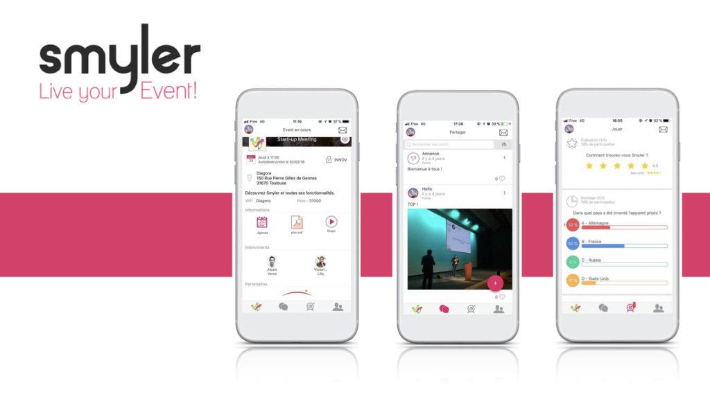 Events en présentiel et distanciel : Smyler et Dialogfeed lancent leur 1ère app ! © DR