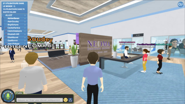 Rentrée d'une nouvelle ère : Laval Virtual conçoit le premier campus numérique pour NEOMA Business School © DR