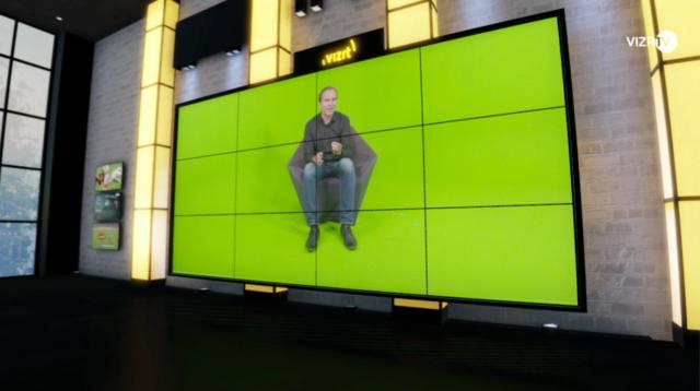 Mur vidéo virtuel à Vomp © Vizrt