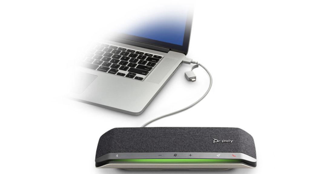Les nouveaux haut-parleurs Poly conçus pour l'hybride © DR