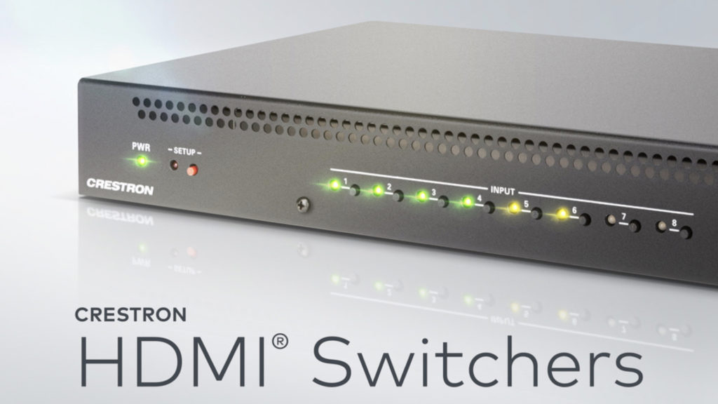 Nouvelle gamme d'interrupteurs HDMI de Crestron © DR