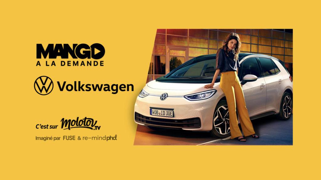Streaming gratuit : Volkswagen accompagne Molotov dans le lancement de sa plateforme Mango © DR