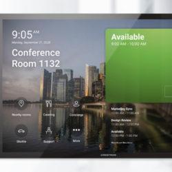 De nouveaux panneaux de planification Microsoft Teams chez Crestron © DR