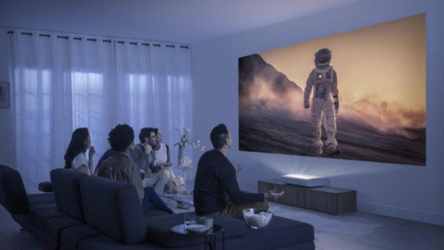 The Premiere de Samsung, premier projecteur au monde certifié HDR10+ © DR
