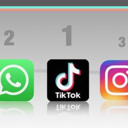 Le top 3 des téléchargements d'applications en 2020 © DR
