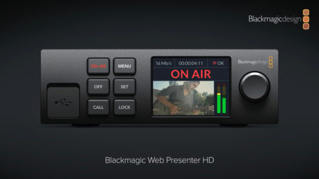 Streaming de qualité broadcast : le Web Presenter HD simplifie la vie ! © DR
