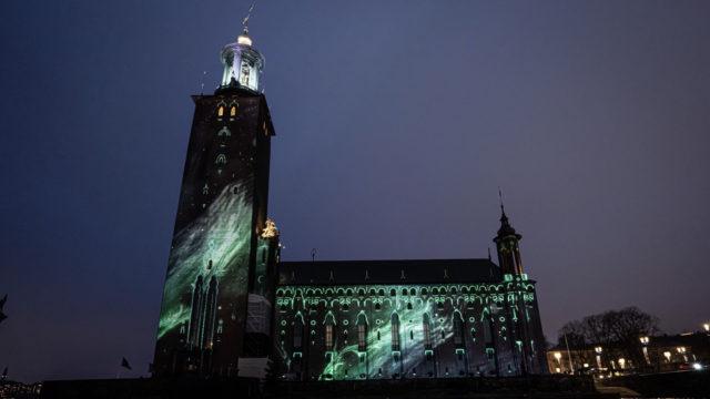 Les vidéoprojecteurs Panasonic au coeur du mapping de la Nobel Week Lights © Creative Technology