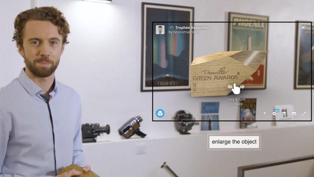 Visite guidée 3D avec Interactive Art Video © DR