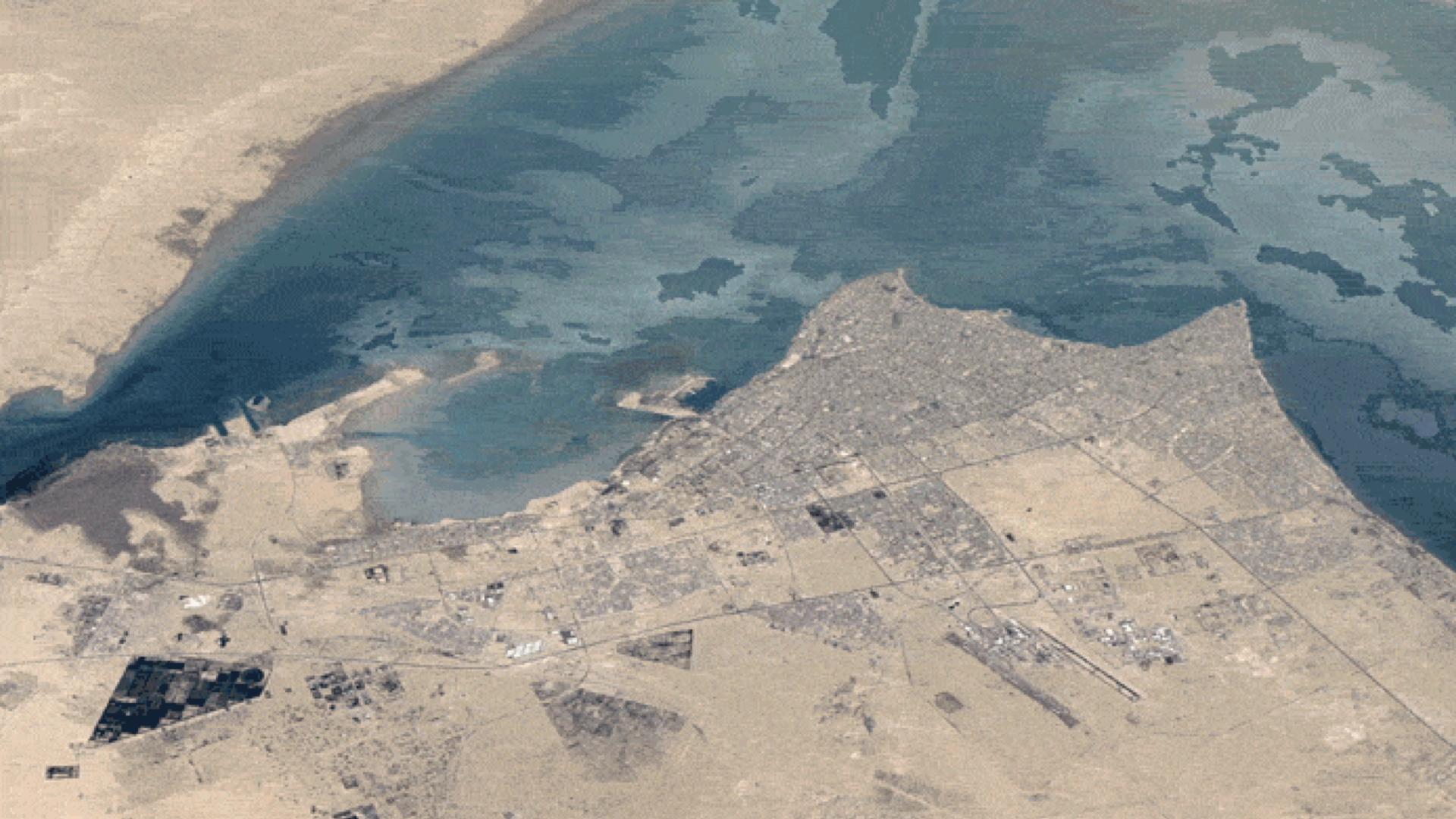 Observez les changements à Kuwait City, Koweït © Google Earth