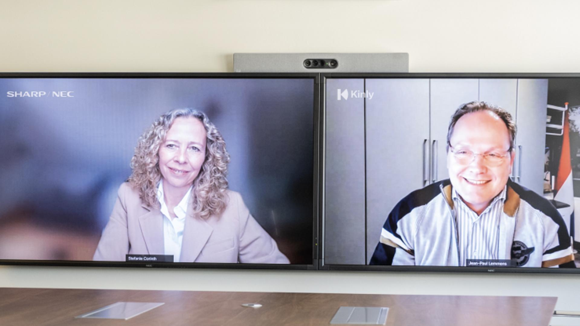 Video collaboration : un partenariat entre Sharp/NEC et l'entreprise européenne Kinly