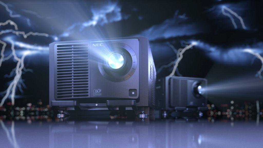 Coup de foudre pour le nouveau projecteur cinéma de l'offre Sharp/NEC © DR
