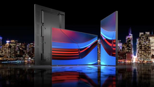 Nouvelle génération d'écrans grand format série P pour les applications en environnements critiques chez Sharp/NEC © DR