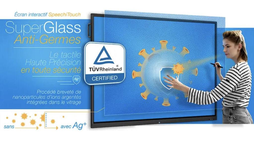 Speechi lance les écrans SuperGlass « de saison » avec un traitement anti-germes certifié © DR