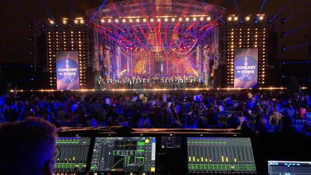 Bastille Day : Le Concert de Paris mixé avec des consoles Lawo mc² a rassemblé 10 millions de téléspectateurs © DR