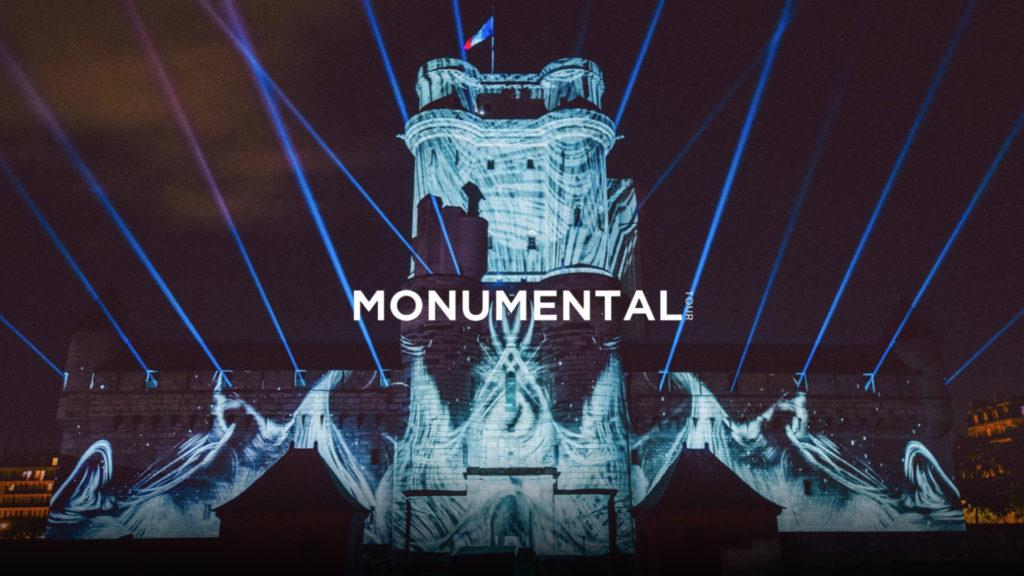 A l'initiative du DJ et producteur Michael Canitrot, le Monumental Tour est un concept de tournée alliant musique électronique, histoire et architecture impulsé par les artistes Michael Canitrot et Jérémie Bellot. © DR