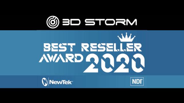 "Les Awards 2020 ""3D Storm NewTek Best Reseller Award"" © DR"