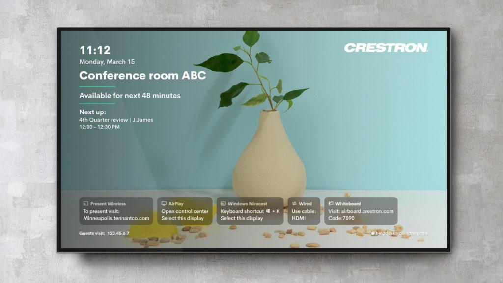Crestron lance la nouvelle génération de solutions de présentation sans fil AirMedia pour les espaces de travail d'entreprises d'aujourd'hui © DR
